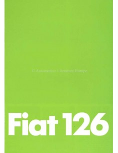 1979 FIAT 126 BROCHURE GERMAN