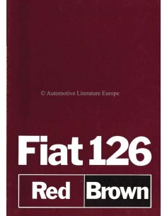 1980 FIAT 126 RED & BROWN BROCHURE GERMAN