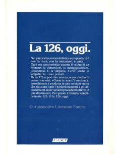 1985 FIAT 126 BROCHURE ITALIAN