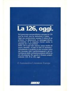 1985 FIAT 126 PROSPEKT ITALIENISCH