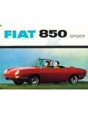 1965 FIAT 850 SPIDER BROCHURE GERMAN