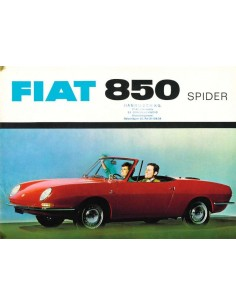 1965 FIAT 850 SPIDER BROCHURE DUITS