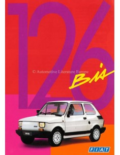 1988 FIAT 126 BIS BROCHURE FRENCH