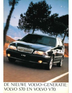1996 VOLVO S70 / V70 BROCHURE DUTCH