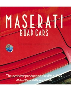 MASERATI ROAD CARS - POSTWAR PRODUCTION CARS 1946-1979 - RICHARD CRUMP & ROB DE LA RIVE BOX - BOEK