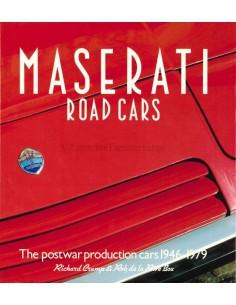 MASERATI ROAD CARS - POSTWAR PRODUCTION CARS 1946-1979 - RICHARD CRUMP & ROB DE LA RIVE BOX - BOOK