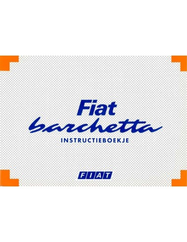 1995 FIAT BARCHETTA OWNERS MANUAL DUTCH