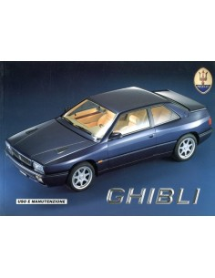 1992 MASERATI GHIBLI OWNERS MANUAL ITALIAN
