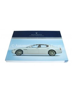 2007 MASERATI QUATTROPORTE V AUTOMATIC OWNERS MANUAL ENGLISH