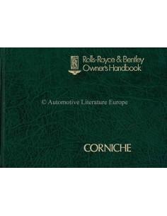 1980 ROLLS ROYCE & BENTLEY CORNICHE BETRIEBSANLEITUNG ENGLISCH