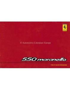 1998 FERRARI 550 MARANELLO BETRIEBSANLEITUNG 1318/98