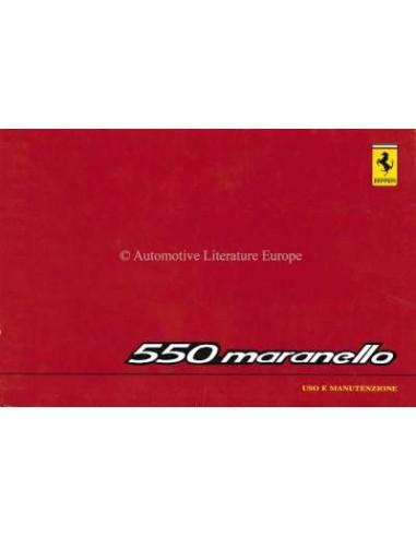 1998 FERRARI 550 MARANELLO OWNERS MANUAL 1318/98