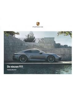 2019 PORSCHE 911 CARRERA HARDCOVER PROSPEKT NIEDERLÄNDISCH