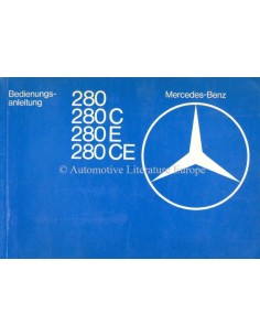 1978 MERCEDES BENZ E CLASS OWNERS MANUAL HANDBOOK GERMAN
