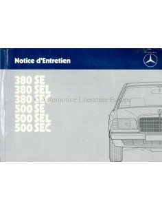 1984 MERCEDES BENZ S CLASS OWNERS MANUAL FRENCH