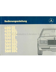 1985 MERCEDES BENZ S CLASS OWNERS MANUAL GERMAN