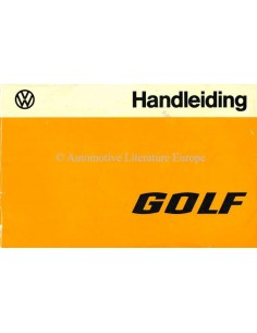 1975 VOLKSWAGEN GOLF OWNERS MANUAL DUTCH
