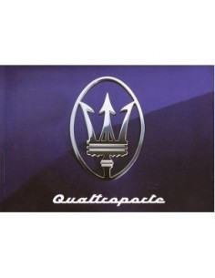 1994 MASERATI QUATTROPORTE OWNERS MANUAL ENGLISH SPANISH