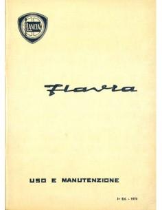 1970 LANCIA FLAVIA LIMOUSINE BETRIEBSANLEITUNG ITALIENISCH