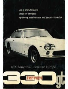 1964 FERRARI 330 GT 2+2 BETRIEBSANLEITUNG