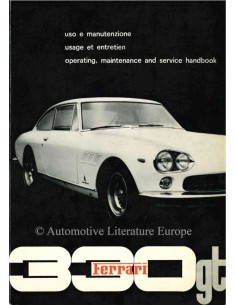 1964 FERRARI 330 GT 2+2 OWNERS MANUAL