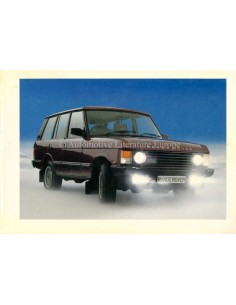 1986 RANGE ROVER CLASSIC OWNERS MANUAL FRENCH