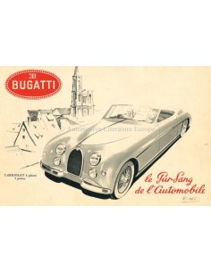 1952 BUGATTI TYPE 101 BROCHURE FRENCH