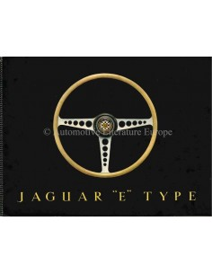 1961 JAGUAR E TYPE 3.8 LITRE BROCHURE ENGLISH