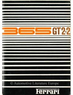 1968 FERRARI 365 GT 2+2 INSTRUCTIEBOEKJE 24/68