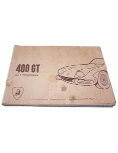 1967 LAMBORGHINI 400 GT OWNER'S MANUAL ENGLISH