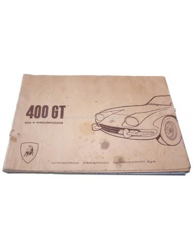 1967 LAMBORGHINI 400 GT INSTRUCTIEBOEKJE ENGELS SCHAARS
