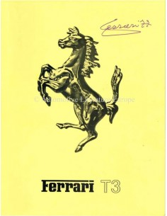 1977 FERRARI 312 / T3 BROCHURE ITALIAANS