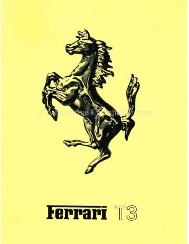 1977 FERRARI 312 / T3 BROCHURE ITALIAN