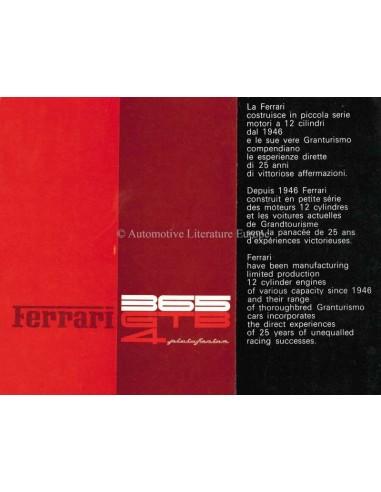 1972 FERRARI 365 GTB4 PININFARINA BROCHURE 64/72