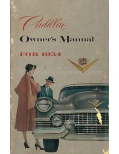 1954 CADILLAC BETRIEBSANLEITUNG ENGLISCH