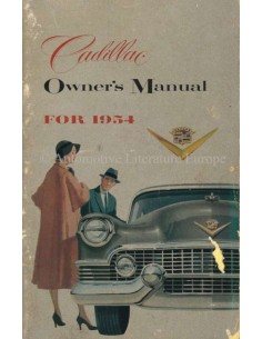 1954 CADILLAC INSTRUCTIEBOEKJE ENGELS