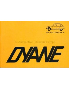 1972 CITROEN DYANE 6 / 435 OWNERS MANUAL DUTCH