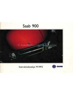 1992 SAAB 900 OWNERS MANUAL DUTCH