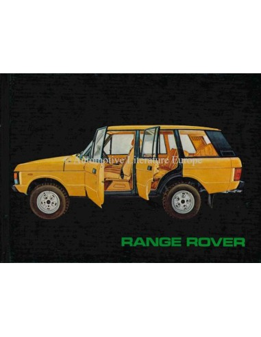 1982 RANGE ROVER OWNER'S MANUAL GERMAN