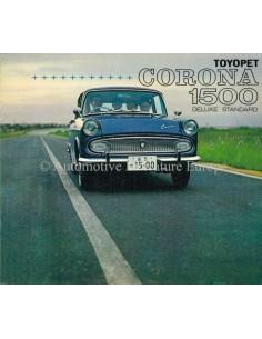 1964 TOYOTA CORONA 1500 DELUXE BROCHURE JAPANESE