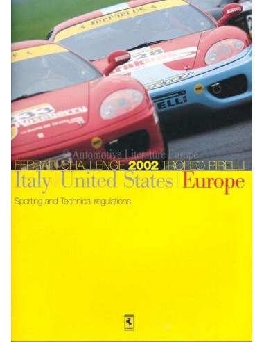 2002 FERRARI CHALLENGE TROFEO PIRELLI BROCHURE ENGLISH