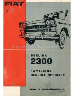 1962 FIAT BERLINA 2300 PROSPEKT ITALIENISCH