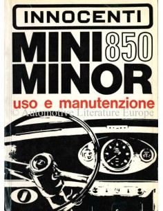 1967 INNOCENTI MINI MINOR 850 OWNERS MANUAL ITALIAN