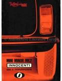 1969 INNOCENTI MINI MINOR MK2 OWNERS MANUAL ITALIAN