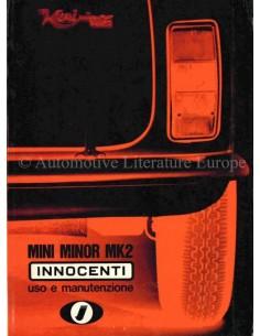1969 INNOCENTI MINI MINOR MK2 INSTRUCTIEBOEKJE ITALIAANS