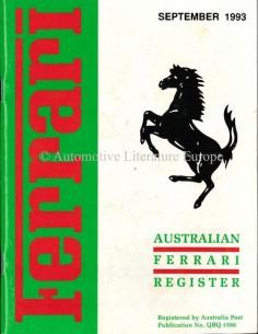 1993 FERRARI AUSTRALIAN REGISTER MAGAZINE ENGLISH