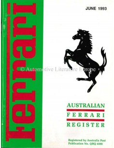 1993 FERRARI AUSTRALIAN REGISTER MAGAZINE ENGLISCH