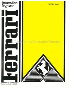 1990 FERRARI AUSTRALIAN REGISTER MAGAZINE ENGLISH