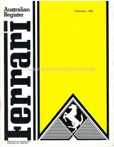 1984 FERRARI AUSTRALIAN REGISTER MAGAZINE ENGLISCH