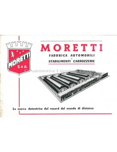 1959 MORETTI PROGRAMM PROSPEKT ITALIENISCH